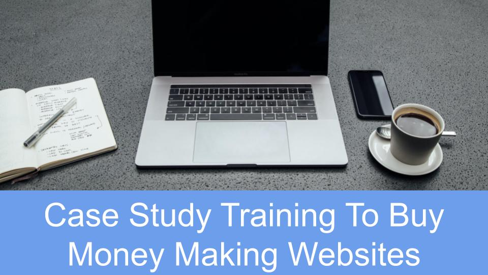 Brian Buying Online Businesses Case Study