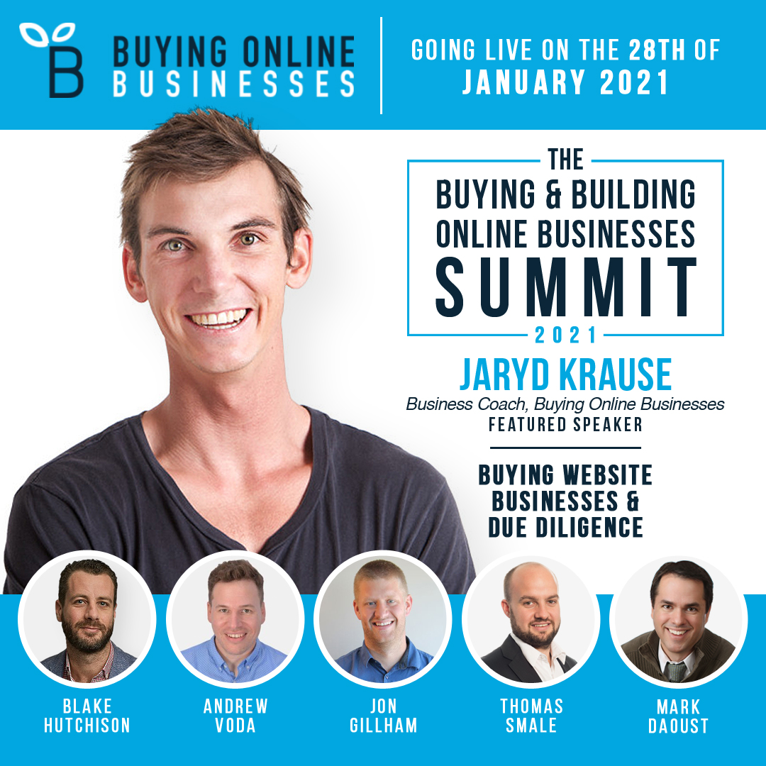 Buying Online Businesses Summit Jaryd Krause